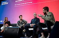 """Sir Bradley Wiggins interviewed on stage<br /> <br /> Rouleur Classic London 2019<br /> """"The World's Finest Road Cycling Exhibition""""<br /> <br /> ©kramon"""