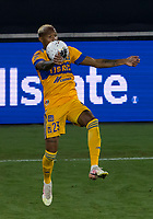 22nd December 2020, Orlando, Florida, USA;  Tigres Luis Quinones (23) receive a pass during the Concacaf Champions League Final between the LAFC and Tigres on December 22, 2020 at Explorer Stadium in Orlando, FL.