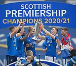 15.05.2021 Rangers v Aberdeen: Cedric Itten with the SPFL Premiership league trophy