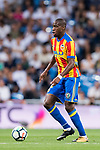 Geoffrey Kondogbia of Valencia CF in action during their La Liga 2017-18 match between Real Madrid and Valencia CF at the Estadio Santiago Bernabeu on 27 August 2017 in Madrid, Spain. Photo by Diego Gonzalez / Power Sport Images