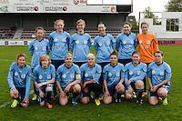 Finale Beker van West-Vlaanderen Dames : FC Menen United - KEG Gistel : team FC Menen <br /> foto VDB / BART VANDENBROUCKE