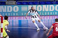 9th October 2020; Palau Blaugrana, Barcelona, Catalonia, Spain; UEFA Futsal Champions League Finals; Mrucia FS versus MFK Tyumen;   Sergei Abramovich of Tyumen takes a shot on goal