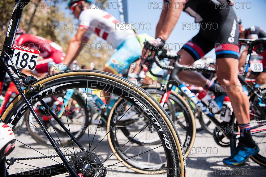Castellon, SPAIN - SEPTEMBER 7: Vision wheel during LA Vuelta 2016 on September 7, 2016 in Castellon, Spain