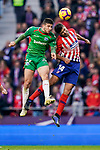 Rodrigo Cascante of Atletico de Madrid (R) vies for the ball with Jonathan Calleri of Deportivo Alaves during the La Liga 2018-19 match between Atletico de Madrid and Deportivo Alaves at Wanda Metropolitano on December 08 2018 in Madrid, Spain. Photo by Diego Souto / Power Sport Images