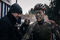 Tom Meeusen's (BEL/Beobank-Corendon) post-race face<br /> <br /> Elite Men's Race<br /> CX Vlaamse Druivencross Overijse 2017