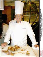 Oct 13, 2004; PARIS, IDF, FRANCE; PAUL BOCUSE. Le Savour Club fete ses 40 ans a l'hotel d'Evreux.<br /> Mandatory Credit: Photo by Guillaume GAFFIOT / VISUAL Press Agency .<br /> (©) Copyright 2004 by VISUAL Press Agency #