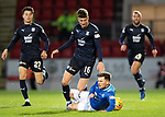St Johnstone v Dundee….03.04.19   McDiarmid Park   SPFL<br />Matty Kennedy is fouled by Ethan Robson<br />Picture by Graeme Hart. <br />Copyright Perthshire Picture Agency<br />Tel: 01738 623350  Mobile: 07990 594431