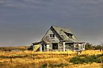 Lonely homestead in Robsart Saskatchewan
