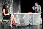 """Marta Flich and Philip Rogers during the theater play of """"Debate"""", the comeback to the teather of Toni Canto at Teatros del Canal in Madrid. May 03, 2016. (ALTERPHOTOS/Borja B.Hojas)"""
