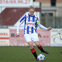 20140315 - WESTERLO , BELGIUM : Heerenveen captain Maruschka Waldus pictured during the soccer match between the women teams of SK Lierse Dames  and SC Heerenveen Vrouwen , on the 19th matchday of the BeNeleague competition Saturday 15 March 2014 in Westerlo . PHOTO DAVID CATRY