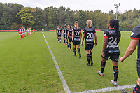 Zulte-Waregem players entering the field pictured during a female soccer game between Standard Femina de Liege and Dames SV Zulte Waregem on the fifth matchday of the 2020 - 2021 season of Belgian Scooore Womens Super League , saturday 17 th of October 2020  in Angleur , Belgium . PHOTO SPORTPIX.BE | SPP | STIJN AUDOOREN