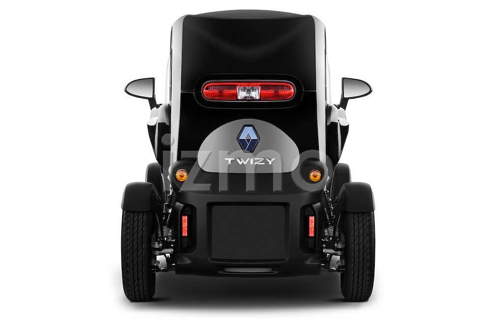 Straight rear view of a 2012 - 2014 Renault Twizy Technic 80 Micro Car.