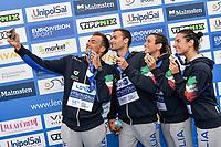 PALTRINIERI Gregorio, ACERENZA Domenico, BRUNI Rachele, GABBRIELLESCHI Giulia ITA Gold Medal<br /> Team Event 5 km <br /> Open Water<br /> Budapest  - Hungary  15/5/2021<br /> Lupa Lake<br /> XXXV LEN European Aquatic Championships<br /> Photo Andrea Staccioli / Deepbluemedia / Insidefoto