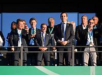 19.05.2018, Football DFB-Pokal Finale 2018, FC Bayern Muenchen - Eintracht Frankfurt, Olympiastadium in Berlin.  Lothar Matthaeus, Philipp Lahm, Helmut Hack, Andreas Koepke (Germany) .<br />  *** Local Caption *** © pixathlon<br /> <br /> Contact: +49-40-22 63 02 60 , info@pixathlon.de