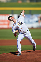 Peoria Javelinas pitcher Kyle McGrath (44), of the San Diego Padres organization, during a game against the Mesa Solar Sox on October 19, 2016 at Peoria Stadium in Peoria, Arizona.  Peoria defeated Mesa 2-1.  (Mike Janes/Four Seam Images)