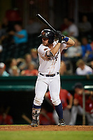 Bowling Green Hot Rods designated hitter Trey Hair (5) at bat during a game against the Peoria Chiefs on September 15, 2018 at Bowling Green Ballpark in Bowling Green, Kentucky.  Bowling Green defeated Peoria 6-1.  (Mike Janes/Four Seam Images)