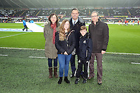 Wednesday, 01 January 2014<br /> Pictured: Sponsors.<br /> Re: Barclay's Premier League, Swansea City FC v Manchester City at the Liberty Stadium, south Wales.