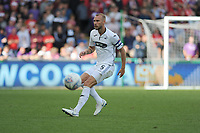 Mike van der Hoorn of Swansea City during the Sky Bet Championship match between Swansea City and Bristol City at the Liberty Stadium, Swansea, Wales, UK. Saturday 25 August 2018