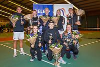 Wateringen, The Netherlands, December 8,  2019, De Rhijenhof , NOJK juniors 14 and18 years, All the finalists<br /> Photo: www.tennisimages.com/Henk Koster