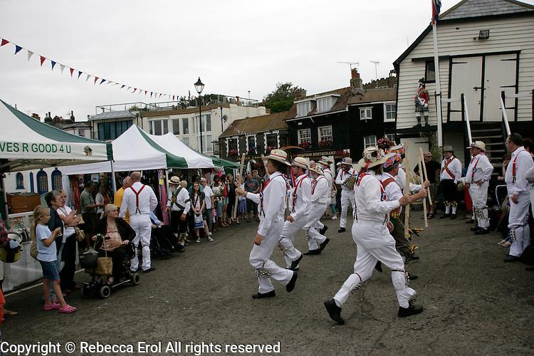 Morris dancers in Broadstairs, Kent, UK