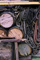 Europe/France/Normandie/Haute-Normandie/76/Seine-Maritime/Fécamp: Détail d'une vieille saurisserie sur le port qui préparait  les harengs fumés