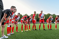 peptalk team Zulte-Waregem pictured before a female soccer game between Sporting Charleroi and SV Zulte-Waregem on the third matchday in the 2021 - 2022 season of Belgian Scooore Womens Super League , friday 3 September 2021 in Marcinelle , Belgium . PHOTO SPORTPIX | STIJN AUDOOREN