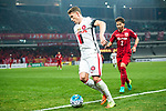 Sydney Wanderers Defender Scott Neville (L) fights for the ball with Shanghai FC Defender Zhang Wei (R) during the AFC Champions League 2017 Group F match between Shanghai SIPG FC (CHN) vs Western Sydney Wanderers (AUS) at the Shanghai Stadium on 28 February 2017 in Shanghai, China. Photo by Marcio Rodrigo Machado / Power Sport Images