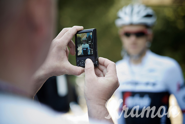 pre-TT-training-posing for Riccardo Zoidl (AUT/Trek-Segafredo)<br /> <br /> 99th Giro d'Italia 2016