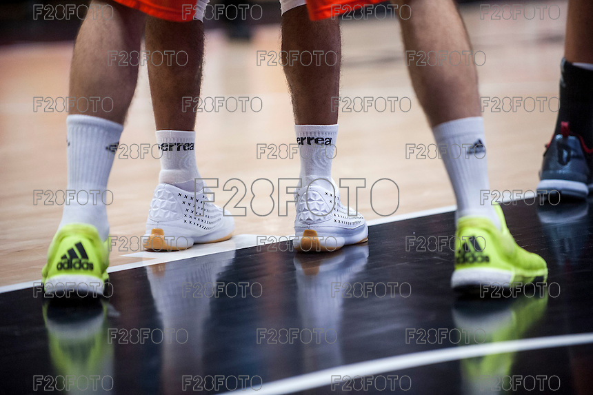 VALENCIA, SPAIN - NOVEMBER 3:  during EUROCUP match between Valencia Basket Club and CAI Zaragozaat Fonteta Stadium on November 3, 2015 in Valencia, Spain
