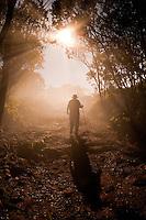 Hiking the Pihea Trail in the Napali Kona Forest Reserve, Waimea Canyon, Kauai, Hawaii