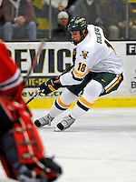 18 January 2008: University of Vermont Catamounts' forward Viktor Stalberg, a Sophomore from Gothenburg, Sweden, in action against the Northeastern University Huskies at Gutterson Fieldhouse in Burlington, Vermont. The two teams battled to a 2-2 tie in the first game of their 2-game weekend series...Mandatory Photo Credit: Ed Wolfstein Photo