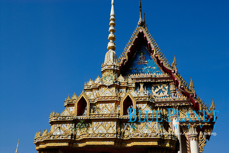 Buddhist temple in south of Thailand, Southeast Asia.