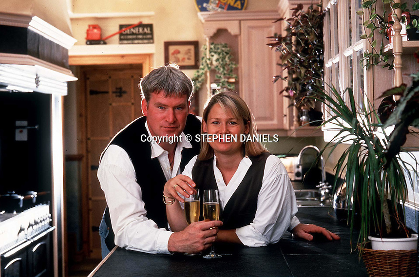 Photo by ©Stephen Daniels  <br /> Sean Blowers and his wife Shirley at home, London, UK