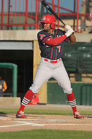 Peoria Chiefs Vaughn Bryan (7) bats during the Midwest League game against the Burlington Bees at Community Field on June 9, 2016 in Burlington, Iowa.  Peoria won 6-4.  (Dennis Hubbard/Four Seam Images)