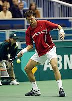 20040216, Rotterdam, ABNAMRO WTT, Sjeng Schalken in zijn partij tegen ivanisevic