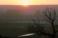 Sun setting on Canyonlands National Park
