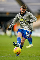 7th February 2021; Molineux Stadium, Wolverhampton, West Midlands, England; English Premier League Football, Wolverhampton Wanderers versus Leicester City; Harvey Barnes of Leicester City shooting practice before the game