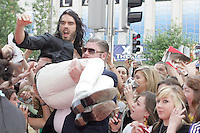22/6/2010. Get Him to the Greek Irish Premiere. Russell Brand is pictured arriving at the Savoy Cinema Dublin for the Irish Premiere of Get Him to the Greek. Picture James Horan/Collins Photos