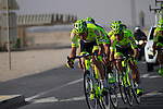 Farnese Vini-Selle Italia team in action during the 2nd Stage of the 2012 Tour of Qatar a team time trial at Lusail Circuit, Doha, Qatar, 6th February 2012 (Photo Eoin Clarke/Newsfile)
