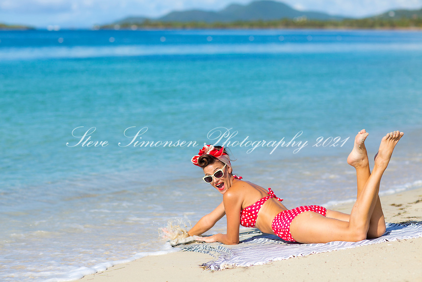 Retro styled model<br />