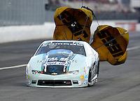 Feb 11, 2017; Pomona, CA, USA; NHRA pro stock driver Matt Hartford during qualifying for the Winternationals at Auto Club Raceway at Pomona. Mandatory Credit: Mark J. Rebilas-USA TODAY Sports