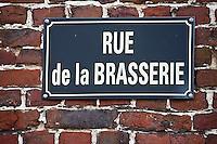 Europe/France/Nord-Pas-de-Calais/59/Nord/Steenvorde: Plaque de la rue de la Brasserie