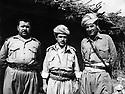 Iraq 197?.Idris Barzani , right Mustafa Bag.Irak 197?.2eme Idris Barzani et a droite Mustafa Bag