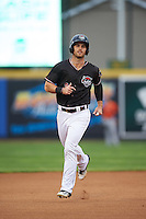 Erie SeaWolves right fielder Jeff McVaney (8) runs the bases on a Dean Green (not shown) home run during a game against the Bowie Baysox on May 12, 2016 at Jerry Uht Park in Erie, Pennsylvania.  Bowie defeated Erie 6-5.  (Mike Janes/Four Seam Images)
