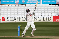 Tom Westley of Essex hits four runs to bring up his double century during Essex CCC vs Worcestershire CCC, LV Insurance County Championship Group 1 Cricket at The Cloudfm County Ground on 9th April 2021