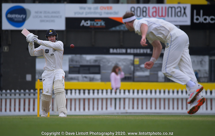 Tom Blundell bats during day three of the Plunket Shield match between the Wellington Firebirds and Otago Volts at Basin Reserve in Wellington, New Zealand on Saturday, 7 November 2020. Photo: Dave Lintott / lintottphoto.co.nz
