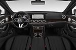 Stock photo of straight dashboard view of a 2019 Mercedes Benz E-class 300 4 Door Sedan