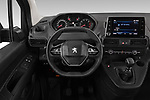 Car pictures of steering wheel view of a 2020 Peugeot Partner Premium Long 4 Door Car van