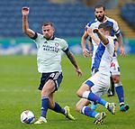 03.10.20 - Blackburn Rovers v Cardiff City - Sky Bet Championship - Joe Ralls of Cardiff and Daniel Ayala of Blackburn Rovers
