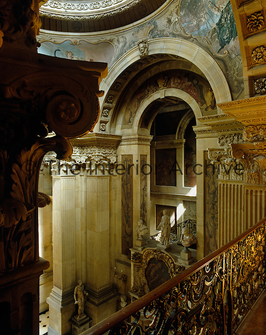 A glimpse of the Great Hall at Castle Howard, 'a dramatic slice of Baroque Cathedral inserted into an English house'
